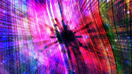 Crazy Interstellar Rainbow Black Hole Warping Space Time - Abstract Background Texture