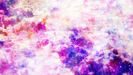Mystical Purple Abstract Clouds with Fast Turbulent Particles - Abstract Background Texture
