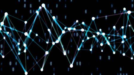 Plexus Neural Network Node Internet Data Connection Science Concept - Abstract Background Texture Banque d'images
