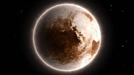 Beautiful View of Planet Pluto from Space Timelapse and Stars - Abstract Background Texture Reklamní fotografie