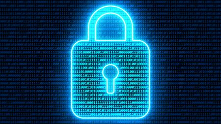 Abstract Binary Digital Padlock Computer Cyber Security Concept - Abstract Background Texture Banque d'images