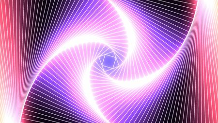 Abstract Neon Laser Tunnel Glowing Pink and Blue Ultraviolet Light - Abstract Background Texture