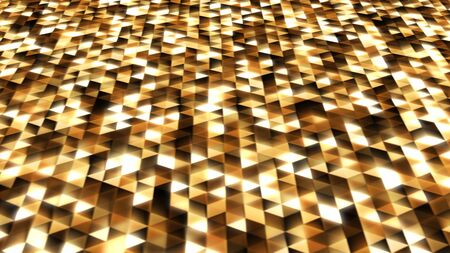 Sparkling Black and Gold Abstract Triangle Shape Pattern Glowing - Abstract Background Texture