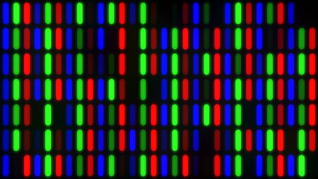 Abstract LCD Computer Monitor Screen Closeup of RGB LED Pixels - Abstract Background Texture