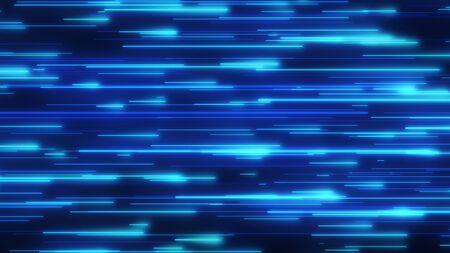 Ultraviolet Fluorescent Neon Light Laser Directional Line Data Flow - Abstract Background Texture