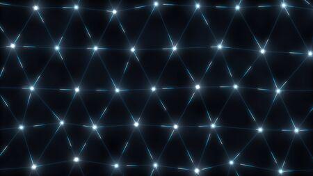 Blockchain Technology Mesh Network Light Grid Plexus Communicating - Abstract Background Texture