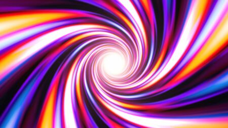 Fast Color Vortex Spiral Swirling in Abstract Psychedelic Tunnel - Abstract Background Texture