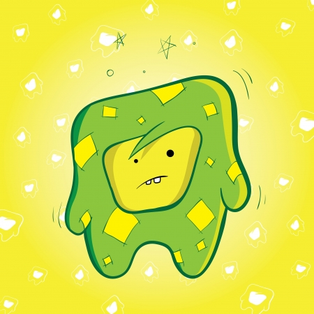 Cute green creature Stock Vector - 18706035