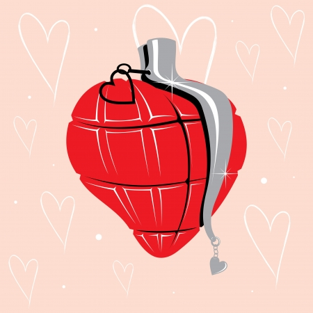 Grenade heart Stock Vector - 18706053