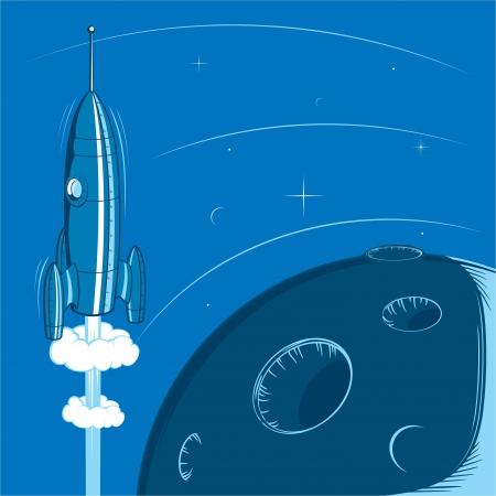 vapor trail: Deep space retro rocket