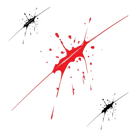 Blood splatter Stock Vector - 18706044