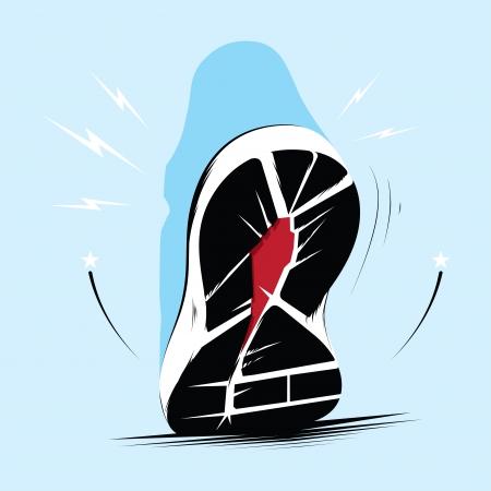 zapatos azules: Ejecuci�n de los formadores �nico Vectores