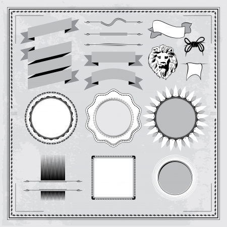 Vintage elements set Stock Vector - 18816491