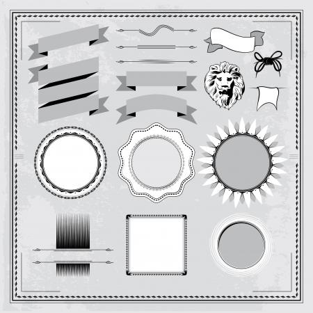 Vintage elements set