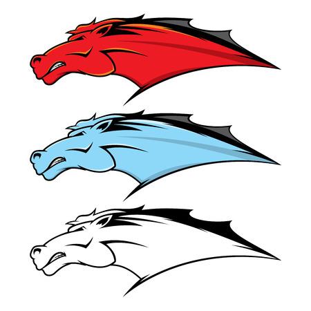 Horse head mascot Illustration