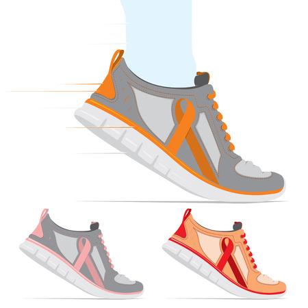 hardloopschoen run voor de genezing Stock Illustratie
