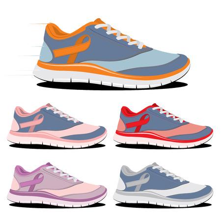 running shoe: corsa corsa pattino per la cura