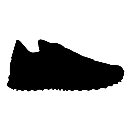 running shoe: running shoe silhouette Illustration