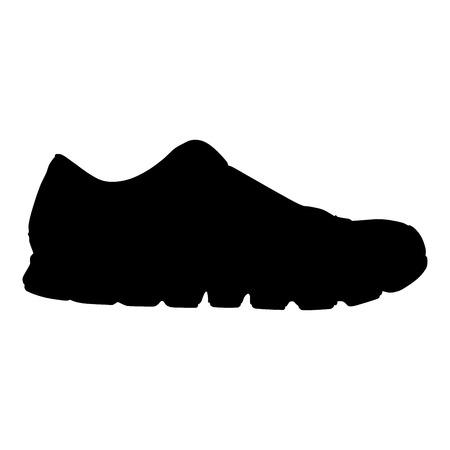 running shoe: scarpa da corsa silhouette