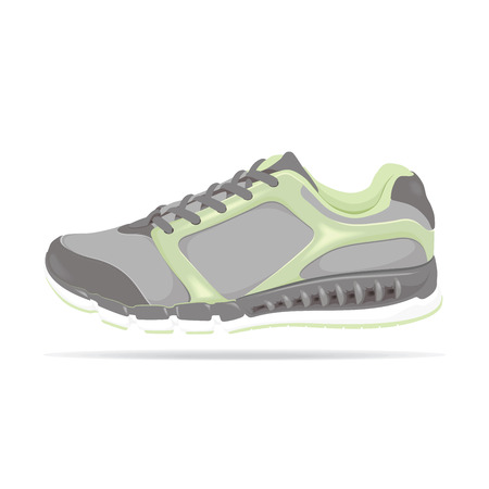 Detailed vector running shoe