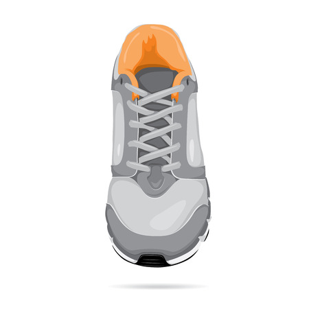running shoe: Vector running shoe - sneaker