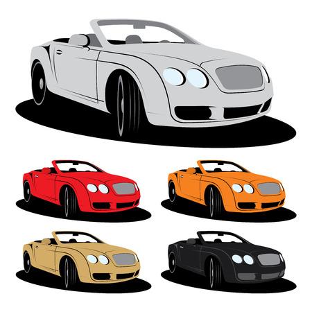 convertible car: Vector luxury car