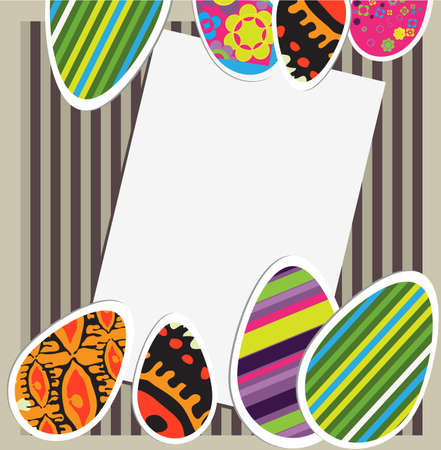 traditional events: Vector Easter card Illustration