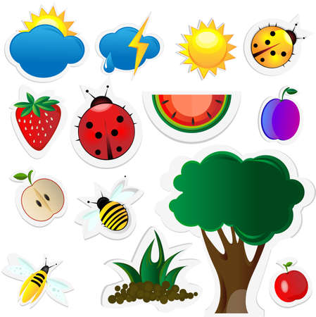 Nature icons Stock Vector - 10360032