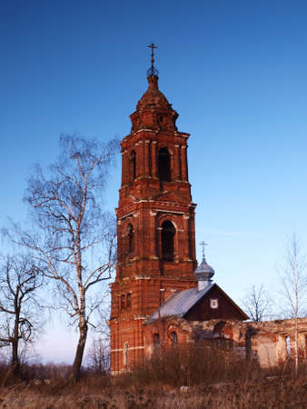 The bell tower of the old Orthodox Church Stock Photo
