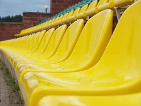 Rows of seats in stadium