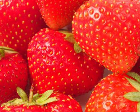 Background of ripe strawberry close-up