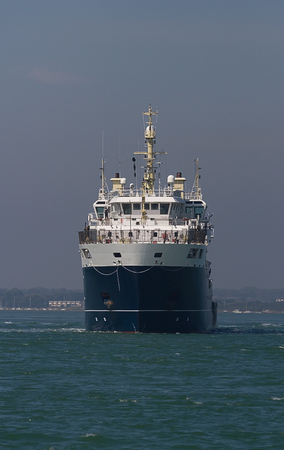 Photo of a Ship on the open water