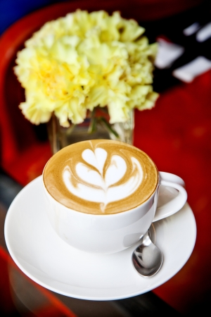 Art latte on a cappuccino coffe cup Stock Photo - 13776847