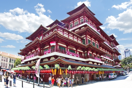 singapore culture: Buddha Tooth Relic Temple   Museum, China town, Singapore Editorial