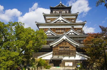 hiroshima: Exterior of Hiroshima Castle in Hiroshima, Japan Editorial