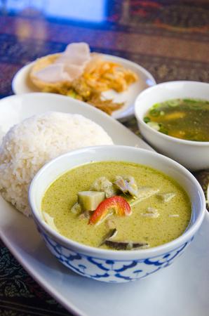 Green curry Chicken , Thai cuisine Stock Photo