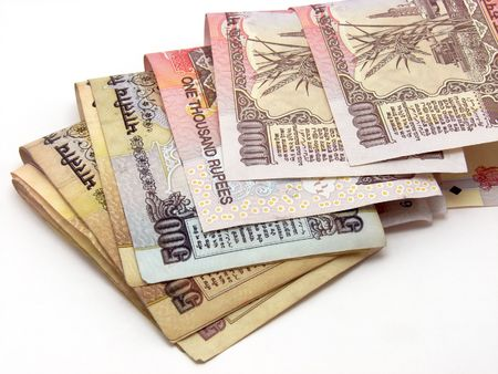 A image showing two 500 Rs. Note on the chart of flags of different nations along with India. Stock Photo - 4845891