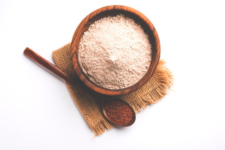 Ragi  Nachni , also known as finger millet and ragi flour, which is a healthy food and is gluten-free.