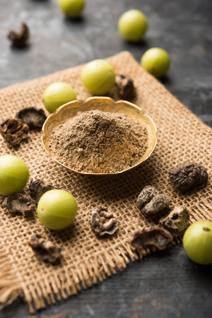 Amla powder with raw Avla, it's an Ayurvedic alternative medicine