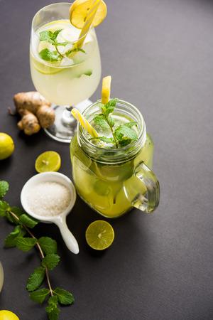 Shikanji is lemonade originating from the PunjabIndia. Also known as shikanjvi or Nimbu Pani or sherbet. popular summer cold drink