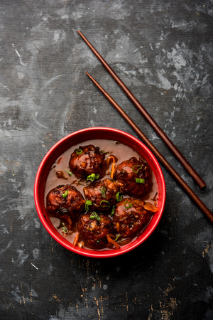 Veg or chicken Manchurian with gravy - Popular indo chinese food