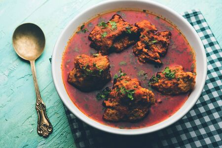 Lauki Kofta Curry made using Bottel Gourd or Doodhi, served in a bowl or karahi. selective focus Stock Photo