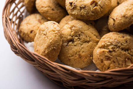 Nan khatai or Nankhatai is an authentic Indian sweet and savory eggless cookie loaded with dry fruits