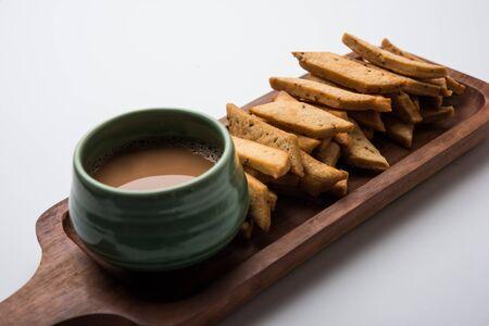 Namakpare or Salty Shakarpara/shakarpare or namkeen Shankarpali, popular diwali food or tea-time snack from Gujarat, India
