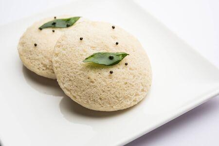 Idli Sambhar or Idly Sambar is a popular south Indian food Stock Photo