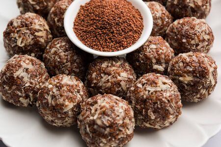 Aliv Laddu, Halim Ladoo or Garden cress Seed sweet Balls a very nutritious food in winters or for New Moms. Popular food from India.