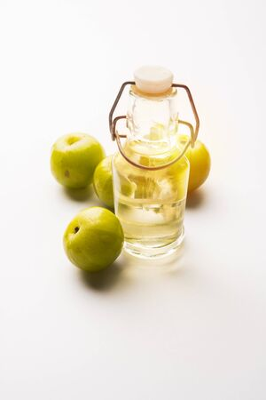 Amla oil is a natural Ayurvedic oil used for hair health that contains extracts from the Indian gooseberry or Phyllanthus emblica