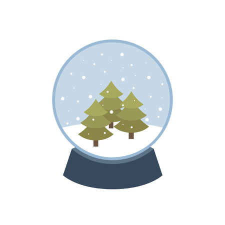christmas snow globe: Christmas snow globe icon. vector illustration Illustration