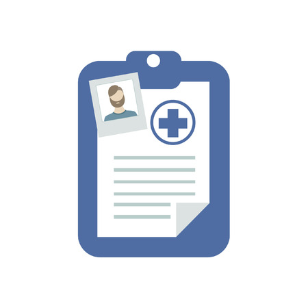 history icon: medical history icon. vector illustration