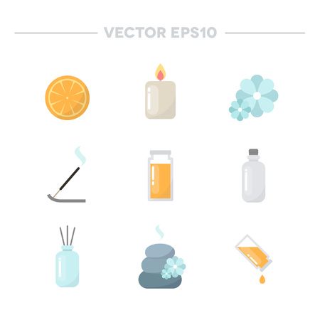 aromatherapy icons. vector illustration Illustration